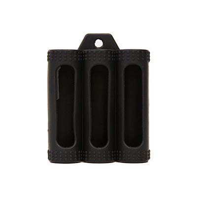 18650 rubber case 3-bay