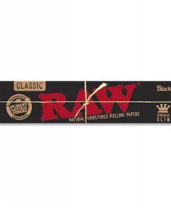 RAW | Black King Size Slim Rolling Paper | Weed Paraphanalia | Vaperite