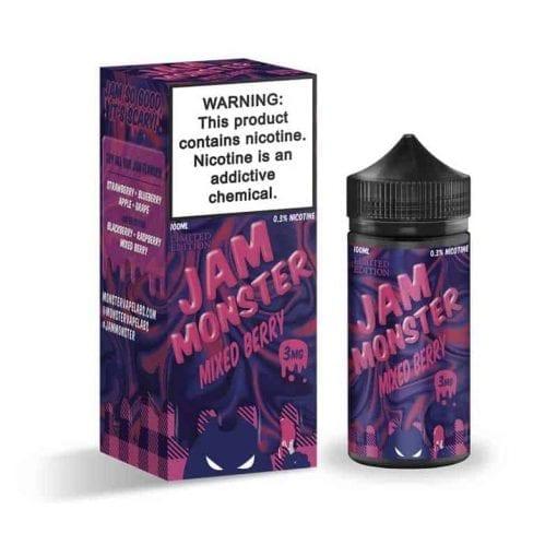 Jam Monster   Mixed Berry   Vaperite.co.za   100ml Chubby Gorilla Bottle