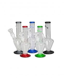 Black Leaf - Mini Glass Ice bongs