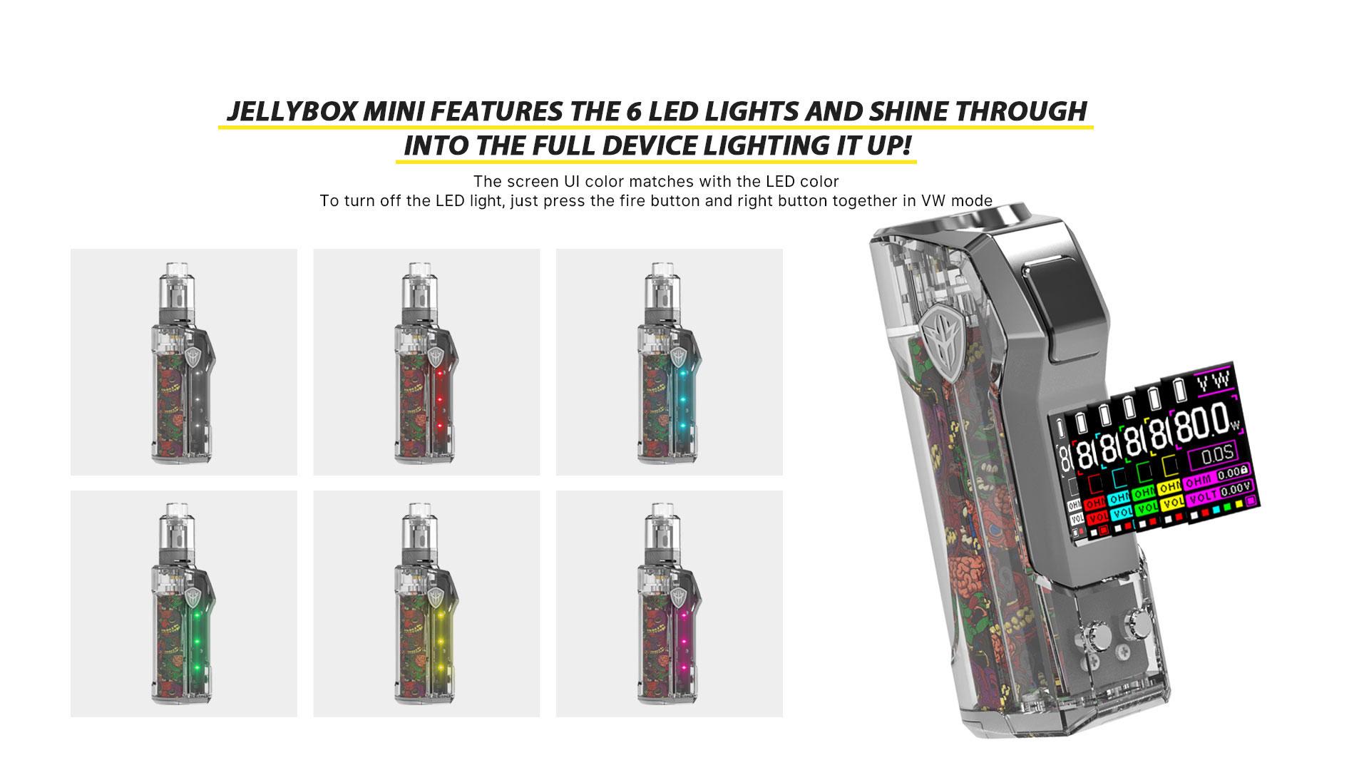 Jellybox Mini 80W Mod Specifications