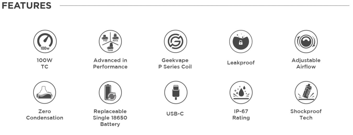 Geekvape Aegis Boost Pro Kit Features